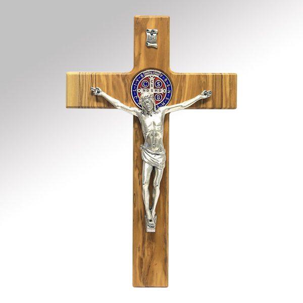 crocifisso in legno san benedetto
